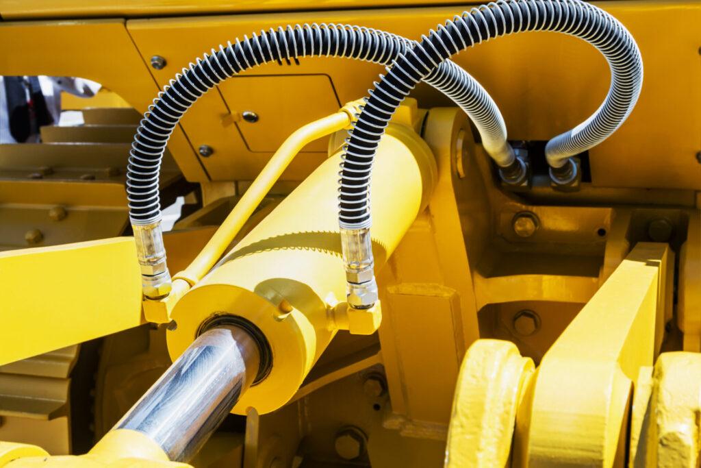 Billede af gul maskine