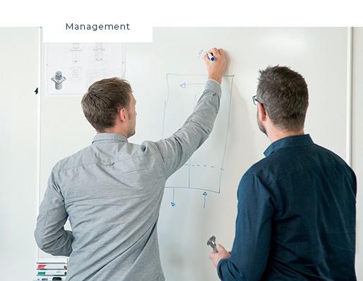 management whiteboard tegning