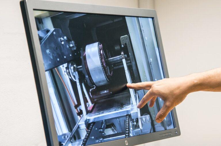 Billede af live video over maskineri