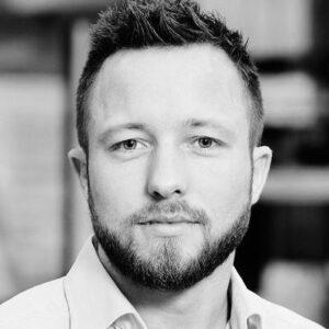 Profilbillede af Rasmus i sort hvid