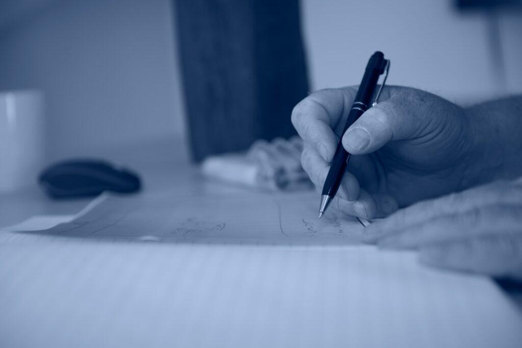 dokument og kuglepen